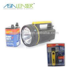 6V batería Lámpara de mano recargable llevada portable