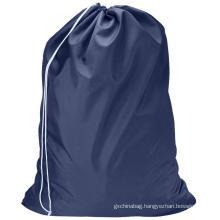 Custom Heavy Duty Drawstring Dirty Clothes Storage Extra Large Travel Nylon Drawstring Washing Laundry Bag