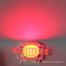 6-7V 10w chip LED rojo integrado de alta potencia LED Bead
