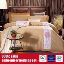 Juego de cama de lujo 100% algodón 300TC Embroidery Hotel