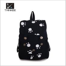 Sac à dos de tissu d'impression de fleur / sac à dos simple fait sur commande / faites votre propre sac à dos