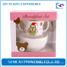 Sencai dishware corrugated packing paper box with plastic window