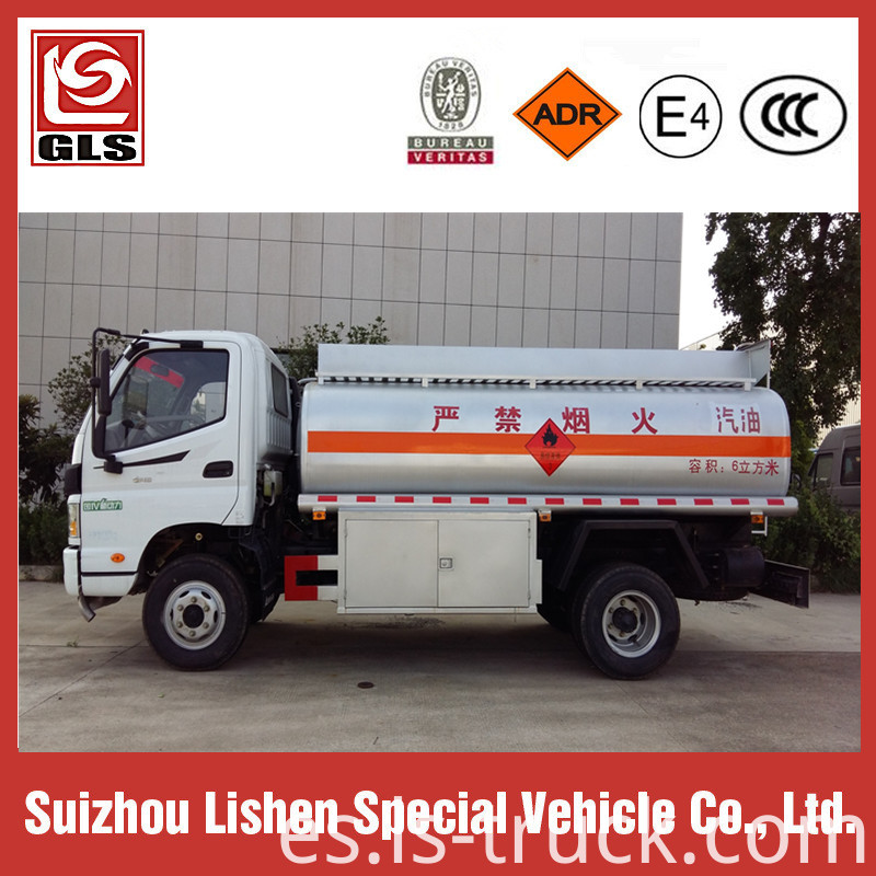 Foton Oil Transport Fuel Tank Truck