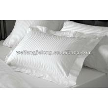 tela de rayas de satén percal de algodón para juego de sábanas de hotel - 1cm