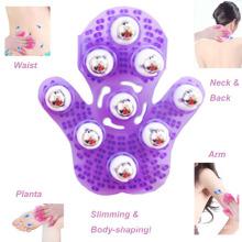 Luvas de massagem de emagrecimento de bola de aço mágica de massageador portátil