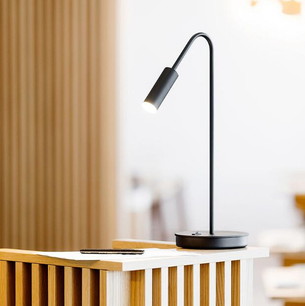 Application Black And Gold Bedside Lamp