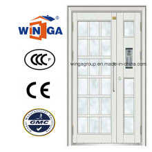 Big Size White Color Exterior Security Steel Glass Door (W-GD-23)