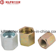 Porcas de Acoplamento Hexagonal de Aço Carbono DIN 6334