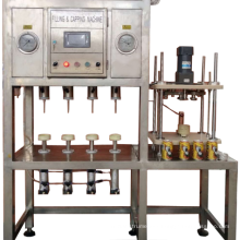 Four head of semi-auto 200CPH Beer Can filling line machine for small brewery
