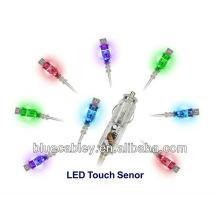 Colorido LED Touch Cargador de coche transparente