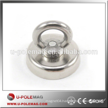 High Pull Force D50mm Neodymium Clamping Magnet with M4 Hook