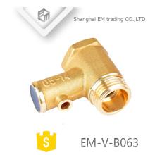 EM-V-B063 soupape de sécurité en laiton à pression moyenne en laiton pour le chauffe-eau sans poignée