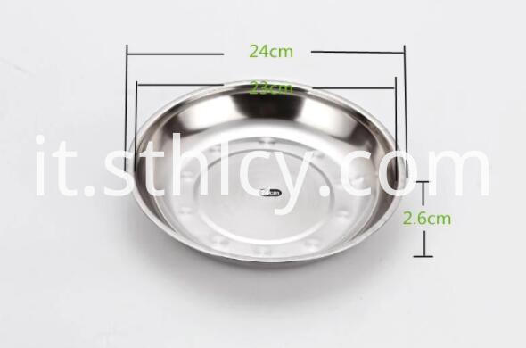 Stainless Steel Serving Trays Round