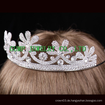 Blumen-Design Crown Braut Hochzeit Kristall Tiaras