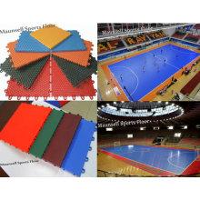 PP Suge and PVC Interlock Sports Football Court Floor