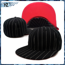 wool/acrylic material stripped pattern simple fitted cap