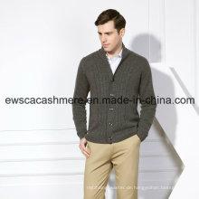 Herren Pure Cashmere Pullover mit Kabel