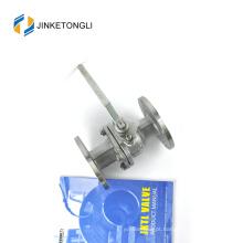 JKTLFB019 cf8m 1000wog Válvula esférica de aço inoxidável de 90 graus de 2 peças