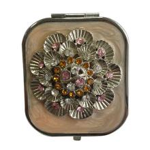 Кристалл цветок макияжа компактные зеркала