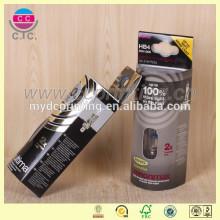 Boîte d'emballage pvc en forme de rond électrique personnalisé