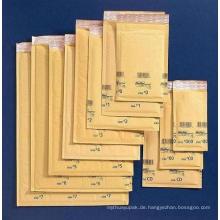 Brauner Handwerks-Blasen-Umschlag / kundengebundener Umschlag mit Blase