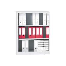 Armário de arquivo baixo de porta aberta com estrutura aberta