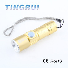 Built-in Lithium Battery Led 4000 lumen flashlight with high quality