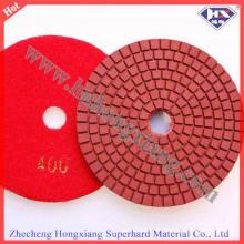 100 mm de diámetro 3 mm de espesor de diamante pulido almohadillas