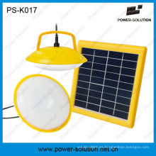 Kit solar mini dos bombillas con cargador de teléfono USB