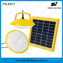 Мини две лампы Солнечной Kit с USB Телефон зарядное устройство