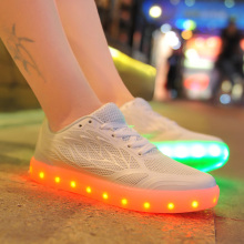 Wire Side LED Shoes for Women White and Pink Color