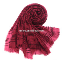 Inner Mongolia manufacturers orders circular yarn blended thin shawl SWR0212 wool plaid new fashion scarf