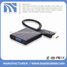 HDMI to VGA Cable Adapter With Chipset 1080P Black For XBOX 360 AV