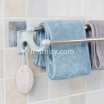 Porte-serviettes sans support pour porte-serviettes double tringle sans poinçon