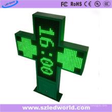 P16 Открытый двойной боковой Programmalbe светодиодный Аптечный крест (85X85)