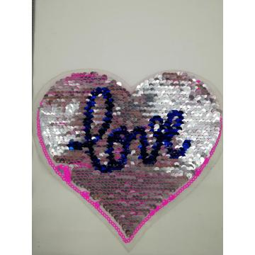 Patch cuore reversibile Pink Love