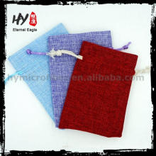 Best sell envelope jewelry bag, custom drawstring jewelry pouch, shopping jewellery pouch packing