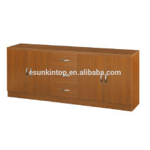 Used office furniture for sale, Cabinet for book storage design, Wood book case with galss door and drawers (KB205)