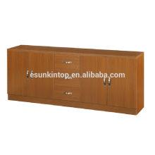 Mobiliário de escritório usado para venda, Gabinete para design de armazenamento de livros, Caixa de livro de madeira com porta e gavetas de galões (KB205)