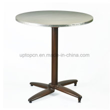 Uptop Outdoor Round Metal Folding Table with Aluminum Leg (SP-AT382)