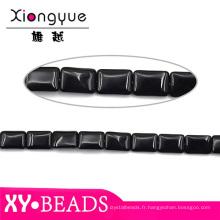 Carré noir Collier Bracelet trouver des perles en gros