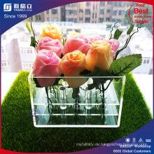 Luxus romantischen klar, während schwarze Acryl Kunststoff Rose Blumenkasten