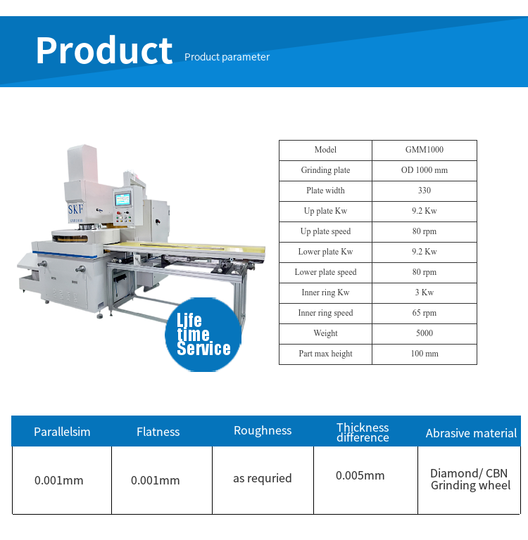 double disk fine grinding machine