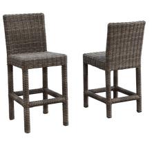 Jardim de vime do Rattan do pátio ao ar livre mobiliário Bar fezes cadeira