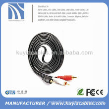 3.5MM STEREO TO 2 RCA MALE PLUGS AUDIO CABLE ADAPTER 6FT 6