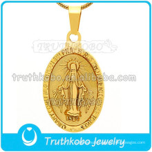Newest Religious Jewelry Design for Religious Pendant Stainless Steel Saint Mother Mary Gold European Style Pendant