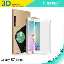 Protecteur d'écran en verre trempé 3D à couverture totale et à pleine transparence pour Samsung7 edge