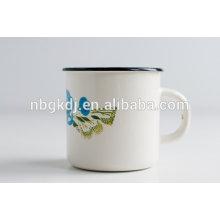 China novos produtos atacado 8-10 cm de aço acampamento esmalte caneca de chá