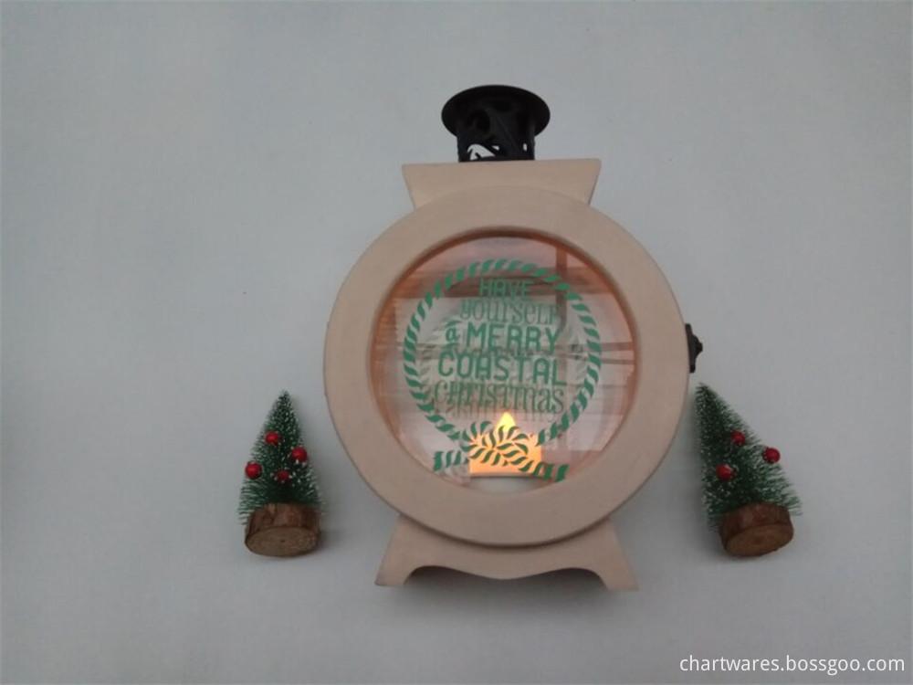 joker wooden candle case standing