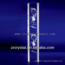 K9 3D Laser Floating Clouds Etched Crystal with Pillar Shape